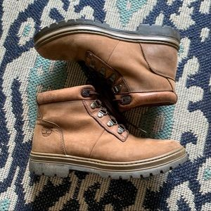 Vintage Timberland Leather Hiking Boots Sz 9